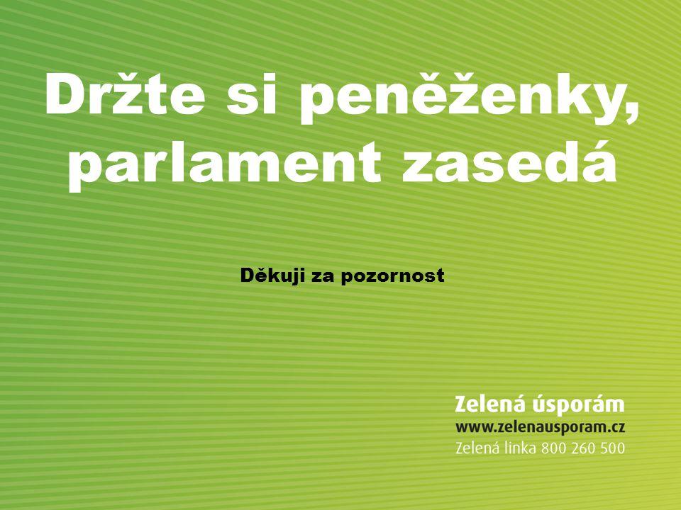 Držte si peněženky, parlament zasedá Děkuji za pozornost