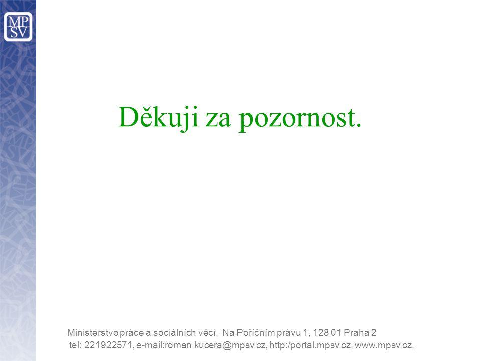 tel: 221922571, e-mail:roman.kucera@mpsv.cz, http:/portal.mpsv.cz, www.mpsv.cz, Ministerstvo práce a sociálních věcí, Na Poříčním právu 1, 128 01 Prah