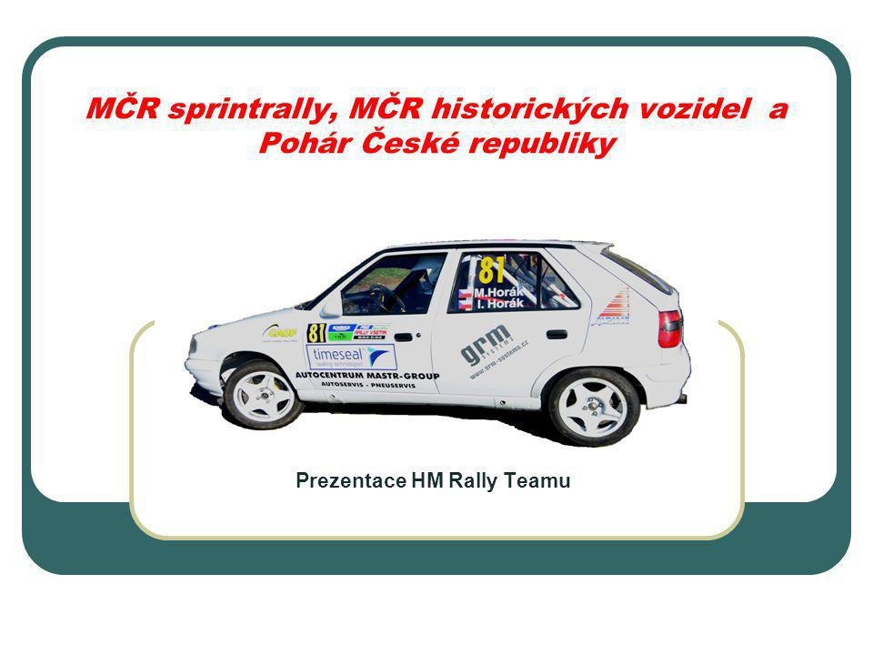 MČR sprintrally, MČR historických vozidel a Pohár České republiky Prezentace HM Rally Teamu