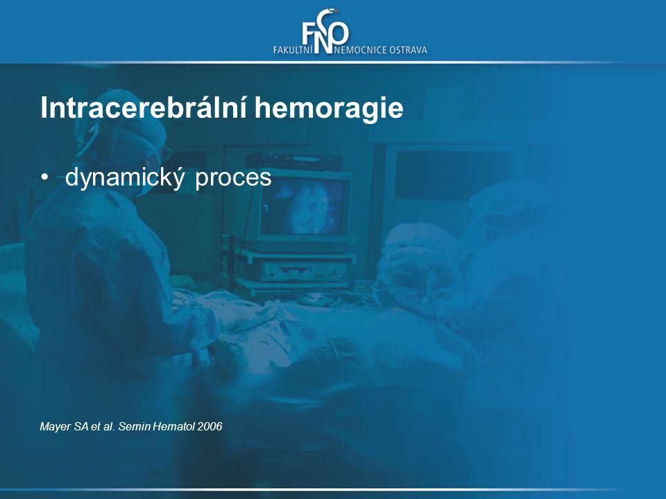 dynamický proces Mayer SA et al. Semin Hematol 2006