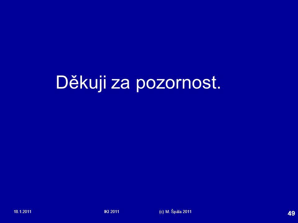 18.1.2011IKI 2011 (c) M. Špála 2011 49 Děkuji za pozornost.