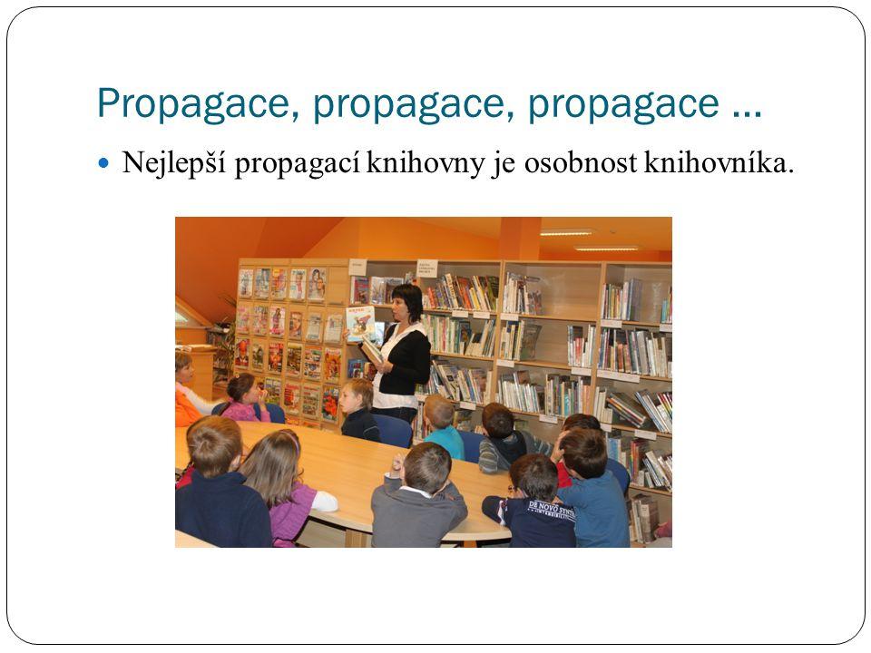 Propagace, propagace, propagace … Nejlepší propagací knihovny je osobnost knihovníka.
