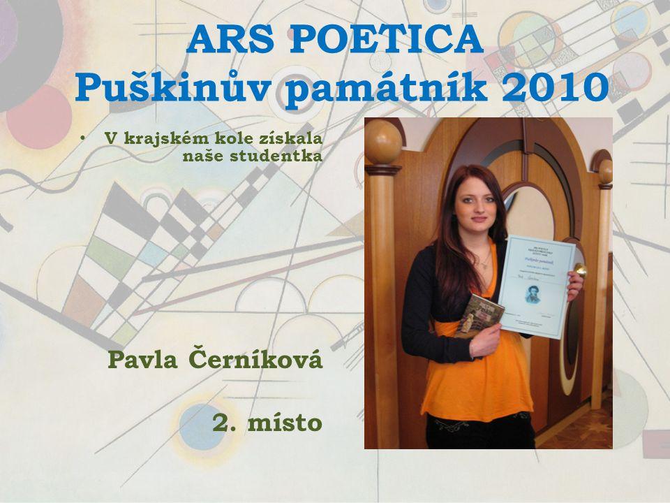 Ruská poezie ve škole proběhla recitace ruských básní v podání vítězů Puškinova památníku.