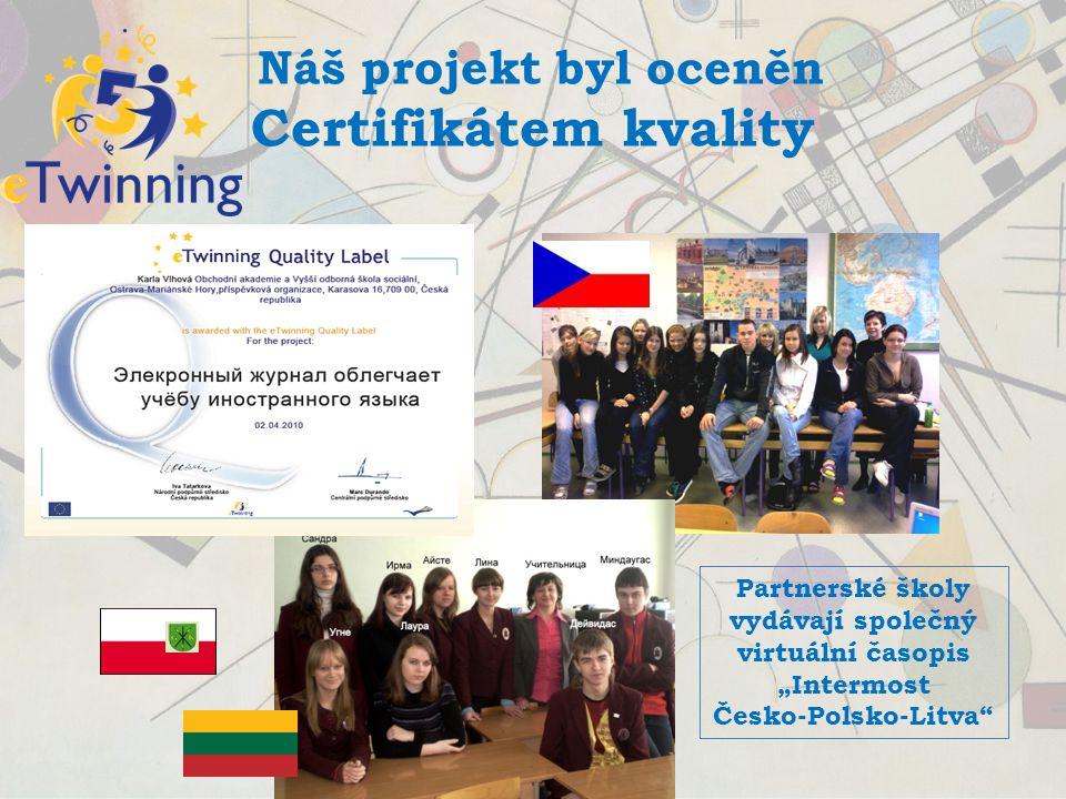 ARS POETICA Puškinův památník 2010 V krajském kole získala naše studentka Pavla Černíková 2. místo