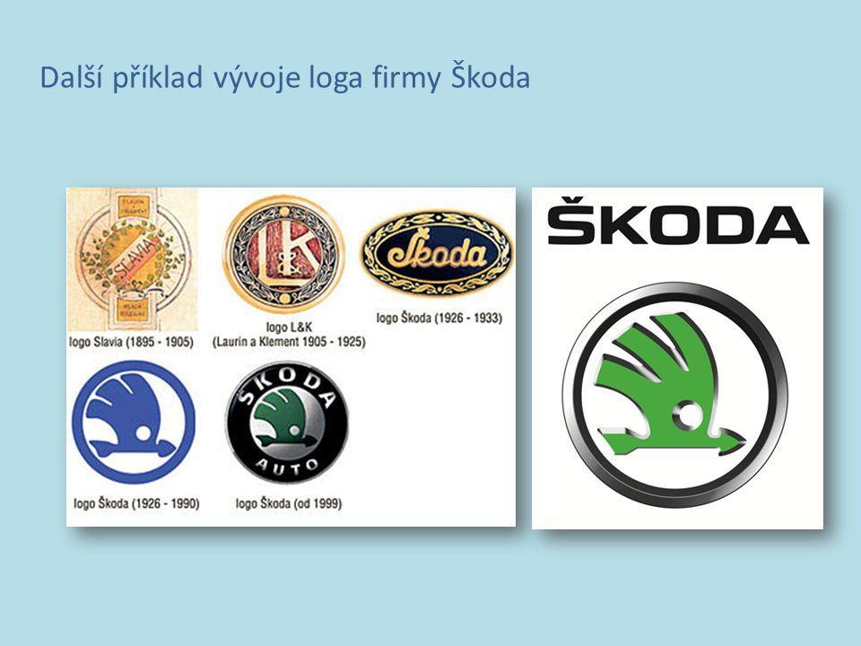 Další příklad vývoje loga firmy Škoda