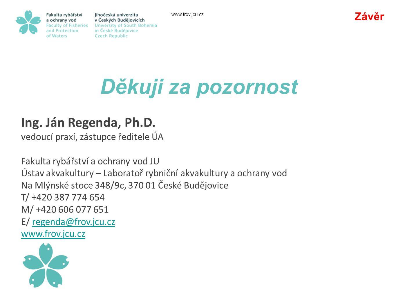 www.frov.jcu.cz Děkuji za pozornost Závěr Ing.Ján Regenda, Ph.D.
