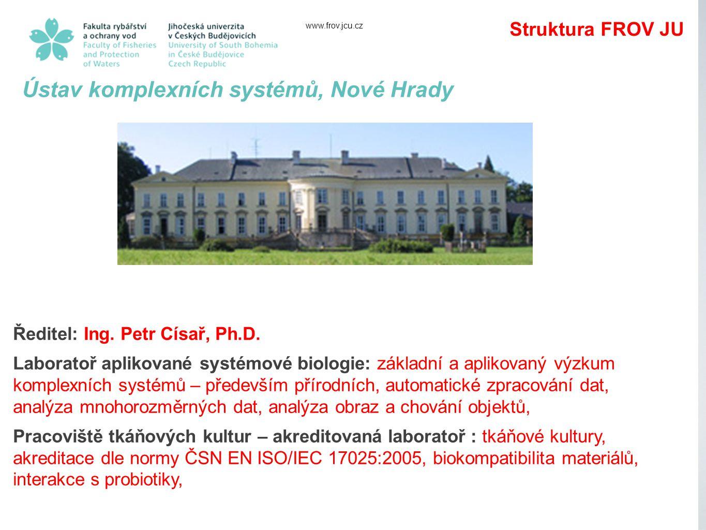 www.frov.jcu.cz Ústav komplexních systémů, Nové Hrady Ředitel: Ing.