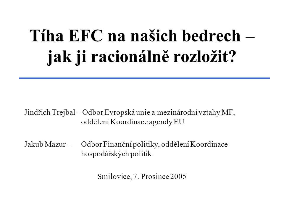 Tíha EFC na našich bedrech – jak ji racionálně rozložit.