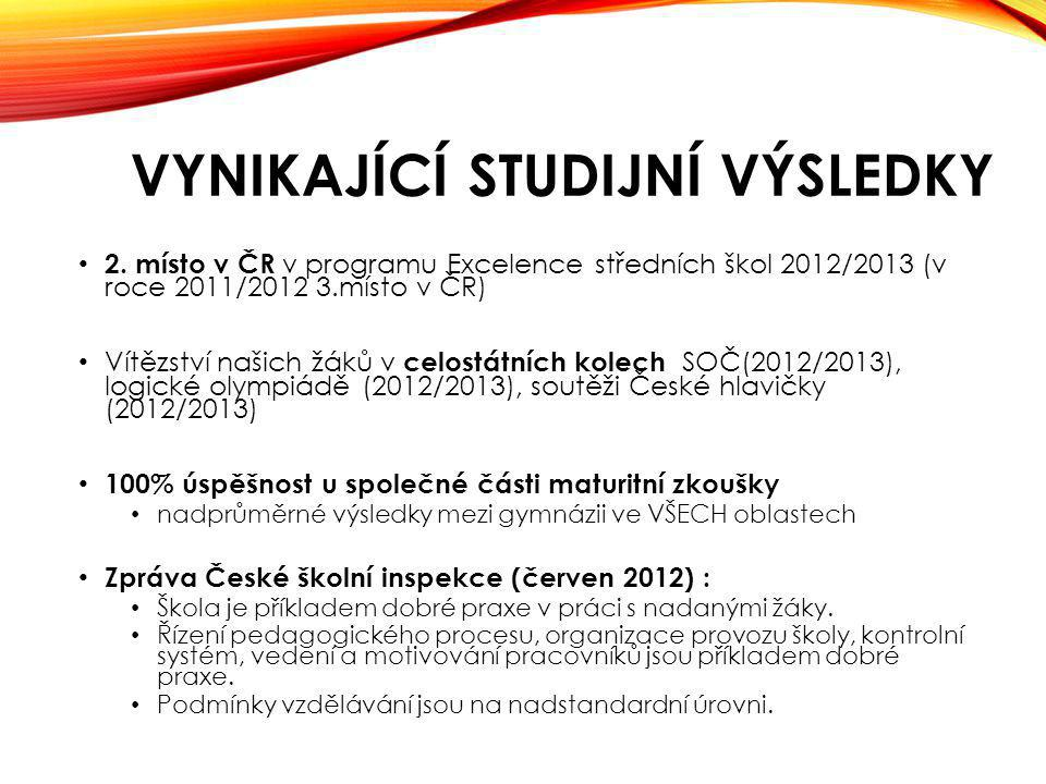 VYNIKAJÍCÍ STUDIJNÍ VÝSLEDKY 2.