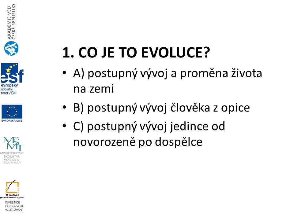 1.CO JE TO EVOLUCE.