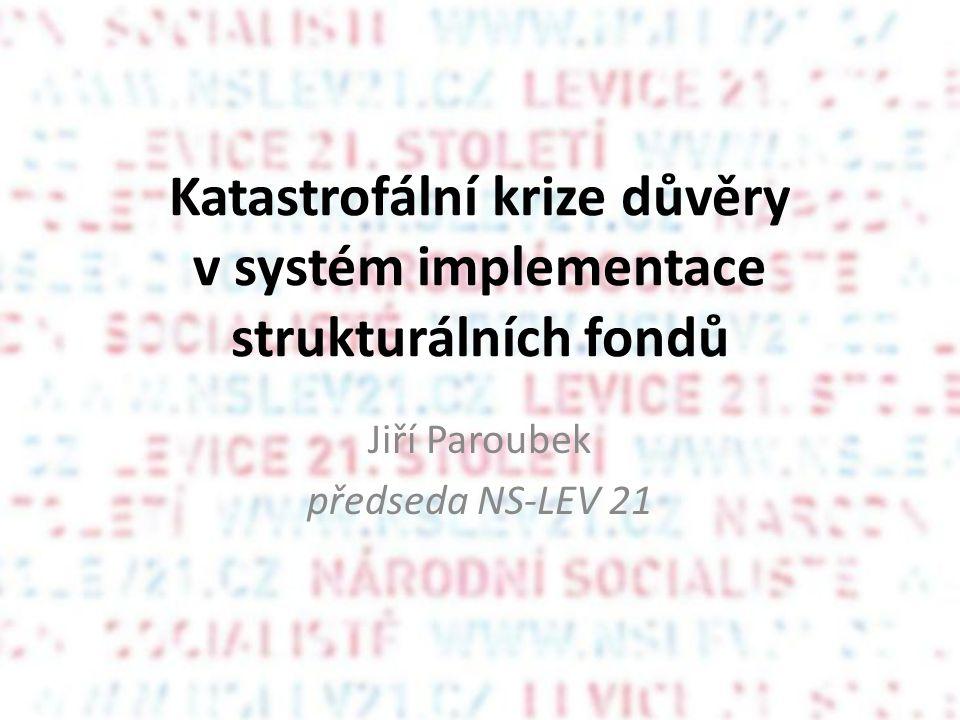 Důsledek této situace Auditní orgán ČR odhalil, že špatně rozděleno bylo 1,85% evropských dotací.