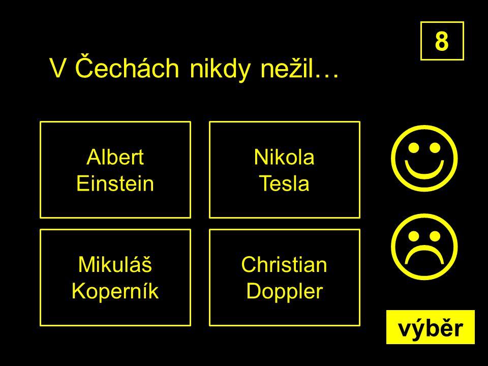 V Čechách nikdy nežil… Mikuláš Koperník 8 Christian Doppler Nikola Tesla Albert Einstein  výběr
