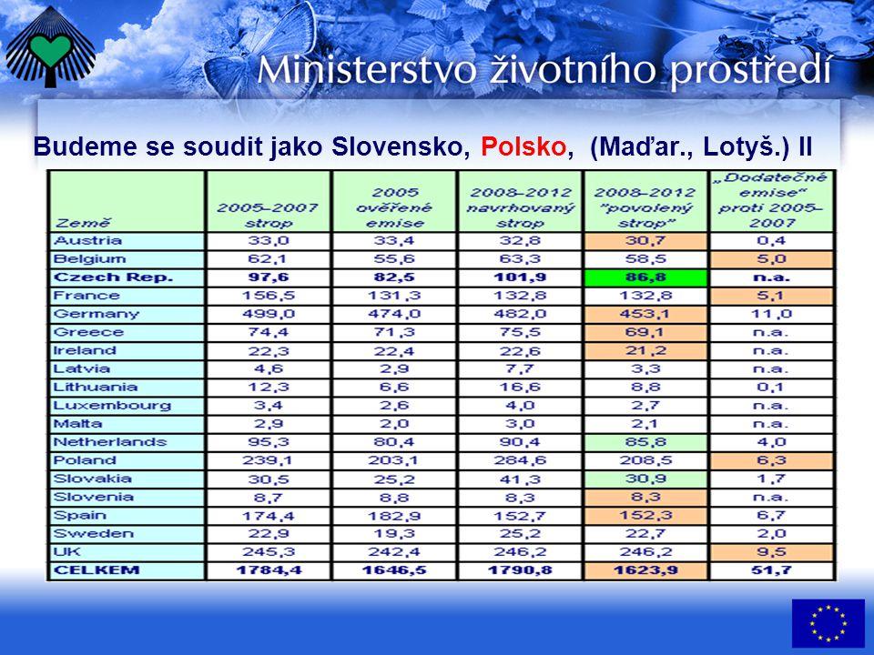 Budeme se soudit jako Slovensko, Polsko, (Maďar., Lotyš.) II