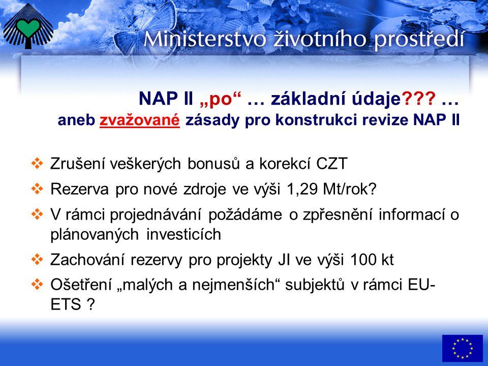 """NAP II """"po … základní údaje??."""