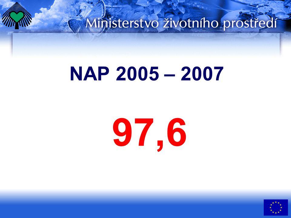 NAP 2005 – 2007 97,6
