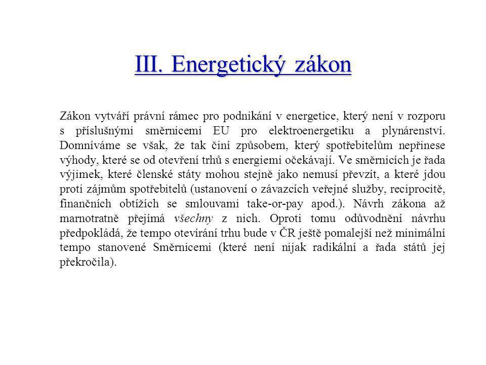 Plynárenství stejně jako jiná síťová odvětví v České republice strádalo díky častým nesystémovým vládním zásahům iniciovanými potřebami a krátkodobými zájmy určitých zájmových skupin a postrádajícími odbornost.