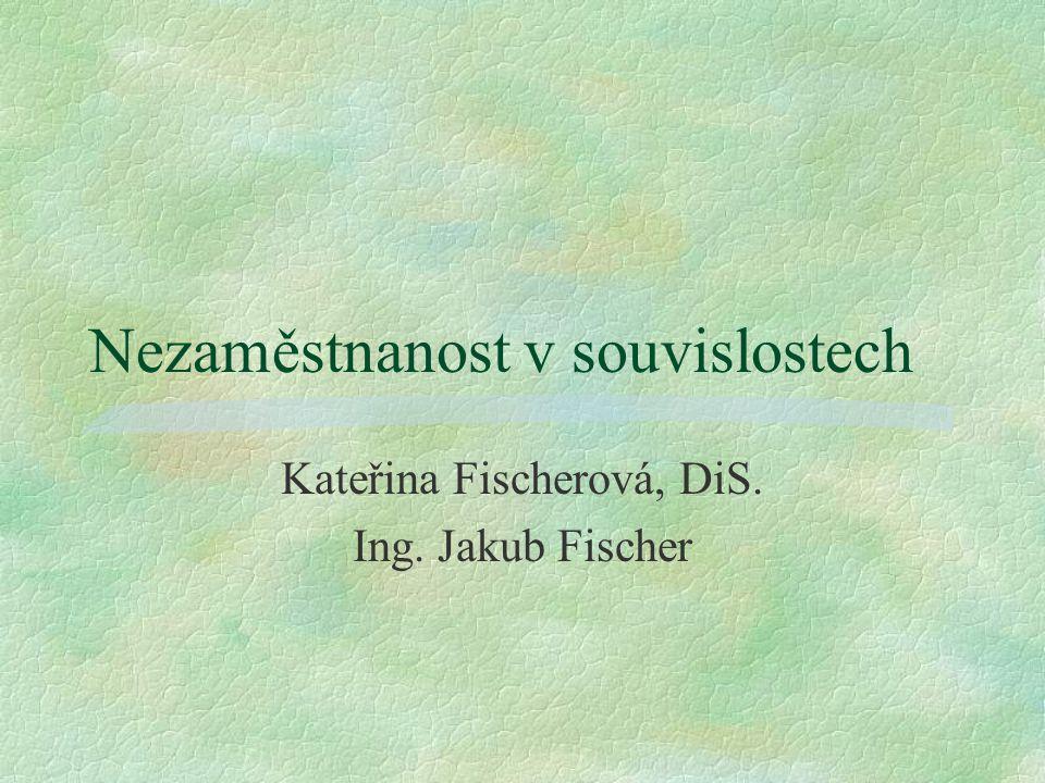 Nezaměstnanost v souvislostech Kateřina Fischerová, DiS. Ing. Jakub Fischer
