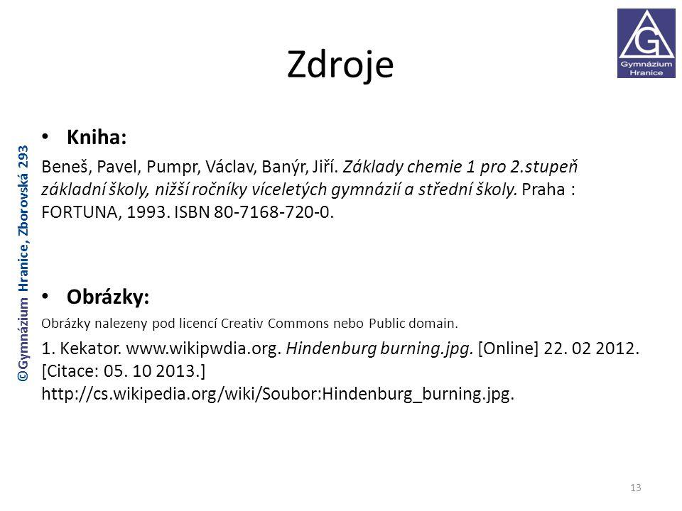 Zdroje Kniha: Beneš, Pavel, Pumpr, Václav, Banýr, Jiří.