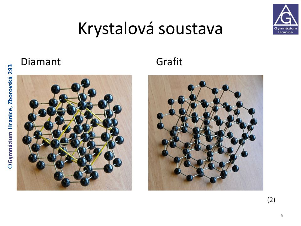 Krystalová soustava DiamantGrafit 6 ©Gymnázium Hranice, Zborovská 293 (2)