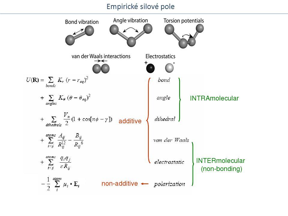 Verletův algoritus Klasická molekulová dynamika