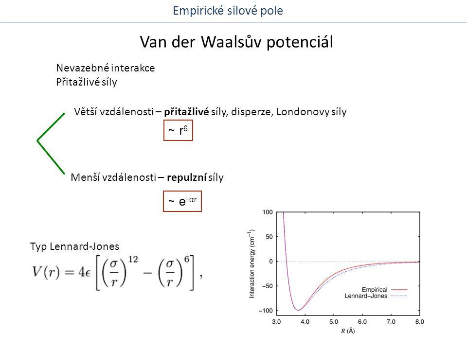 Elektrostatické interakce 1.Coulombické interakce Empirické silové pole