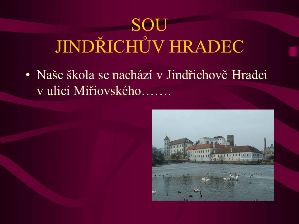 SOU JINDŘICHŮV HRADEC Naše škola se nachází v Jindřichově Hradci v ulici Miřiovského…….