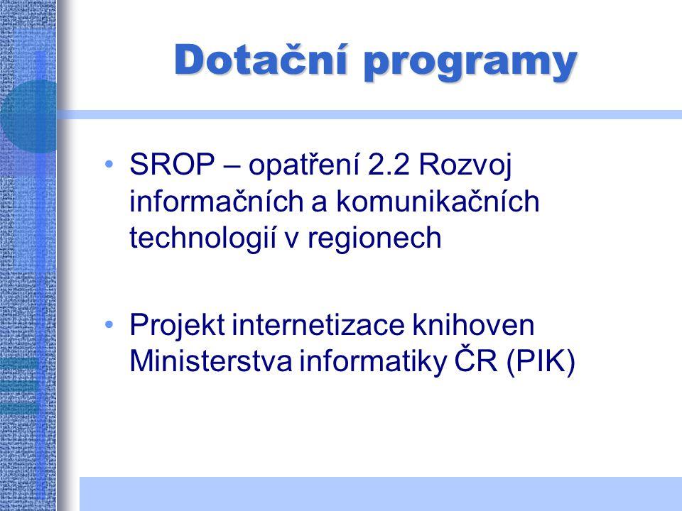 Internet v knihovnách Knihovní zákon č. 257/2001 Sb.