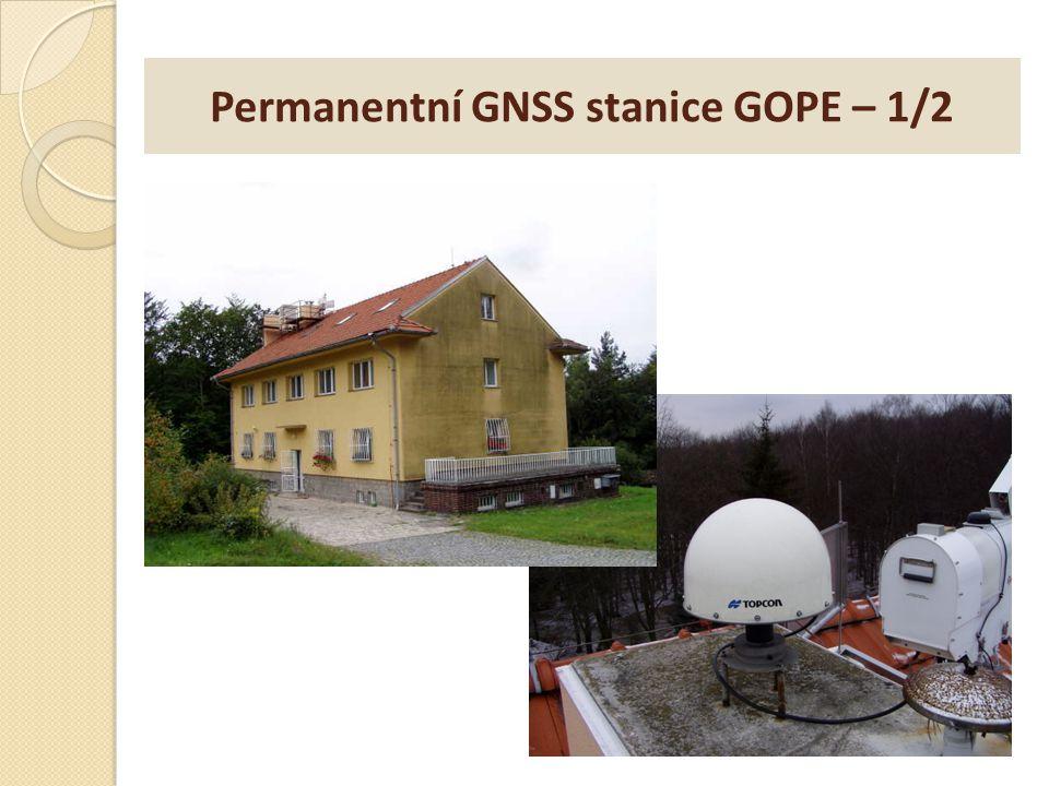 Permanentní GNSS stanice GOPE – 1/2