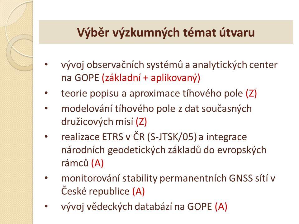 Závěr geodézie je dlouhodobým uživatelem družic GNSS - nejnáročnější uživatel na přesnost VÚGTK - dlouhodobé zkušenosti a expertíza metrologická návaznost pracoviště (etalony) široké mezinárodní kontakty (včetně ESA) příprava na Galileo a jeho geodetické využití vědecké projekty na bázi družicových dat