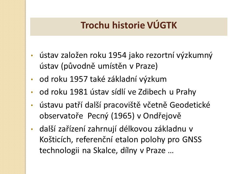 ústav založen roku 1954 jako rezortní výzkumný ústav (původně umístěn v Praze) od roku 1957 také základní výzkum od roku 1981 ústav sídlí ve Zdibech u