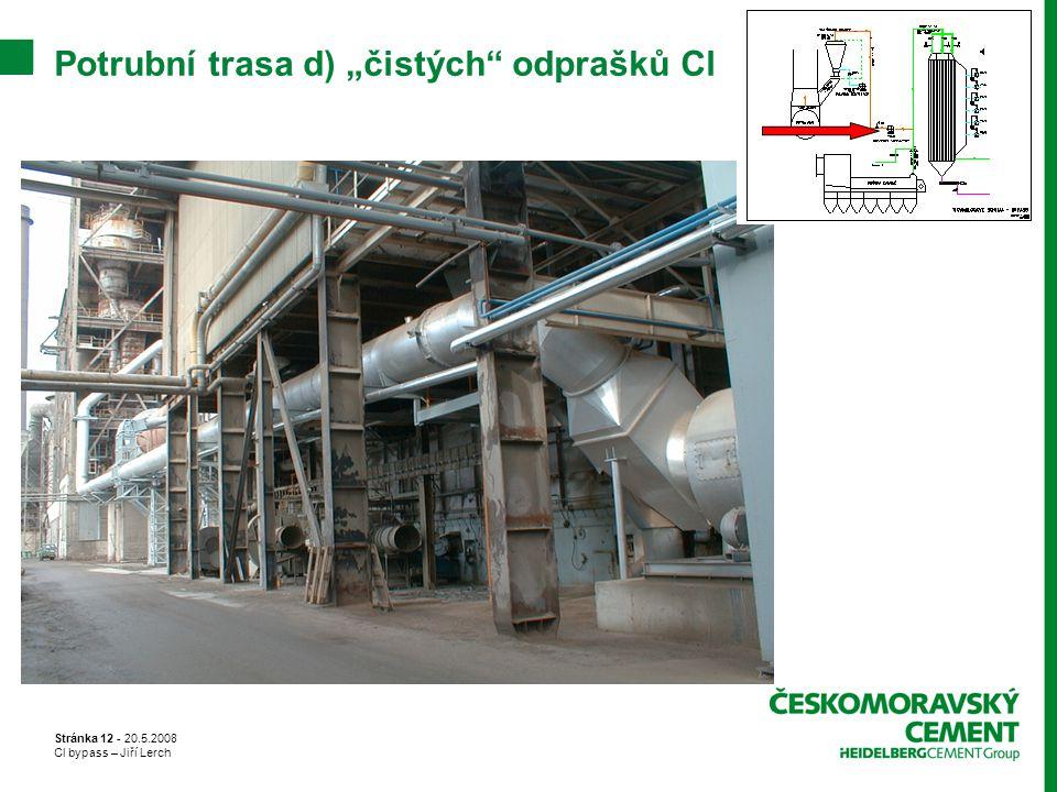 """Stránka 12 - 20.5.2008 Cl bypass – Jiří Lerch Potrubní trasa d) """"čistých"""" odprašků Cl"""