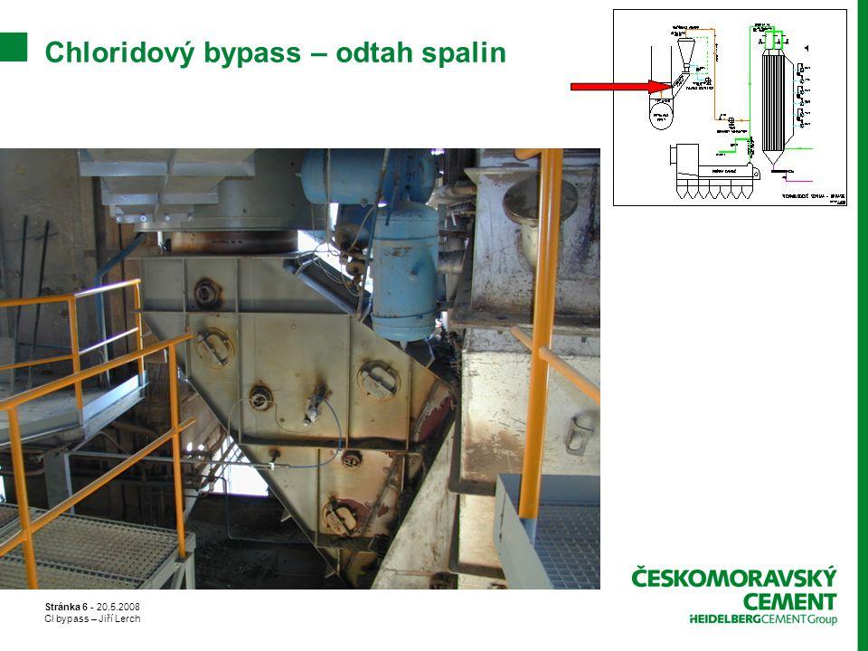 Stránka 6 - 20.5.2008 Cl bypass – Jiří Lerch Chloridový bypass – odtah spalin