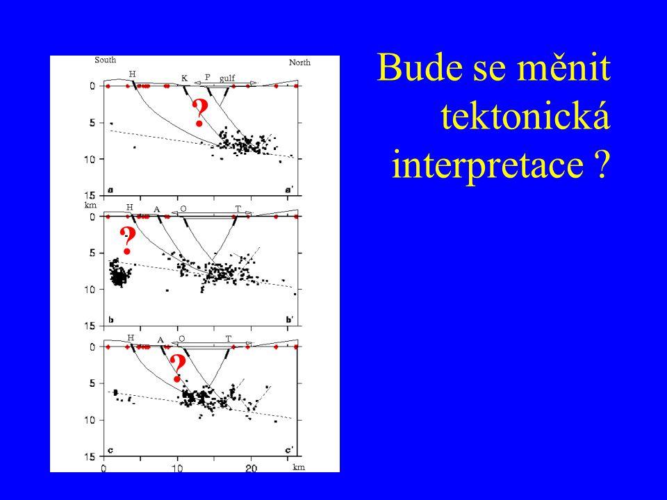 Bude se měnit tektonická interpretace ? ? ? ?