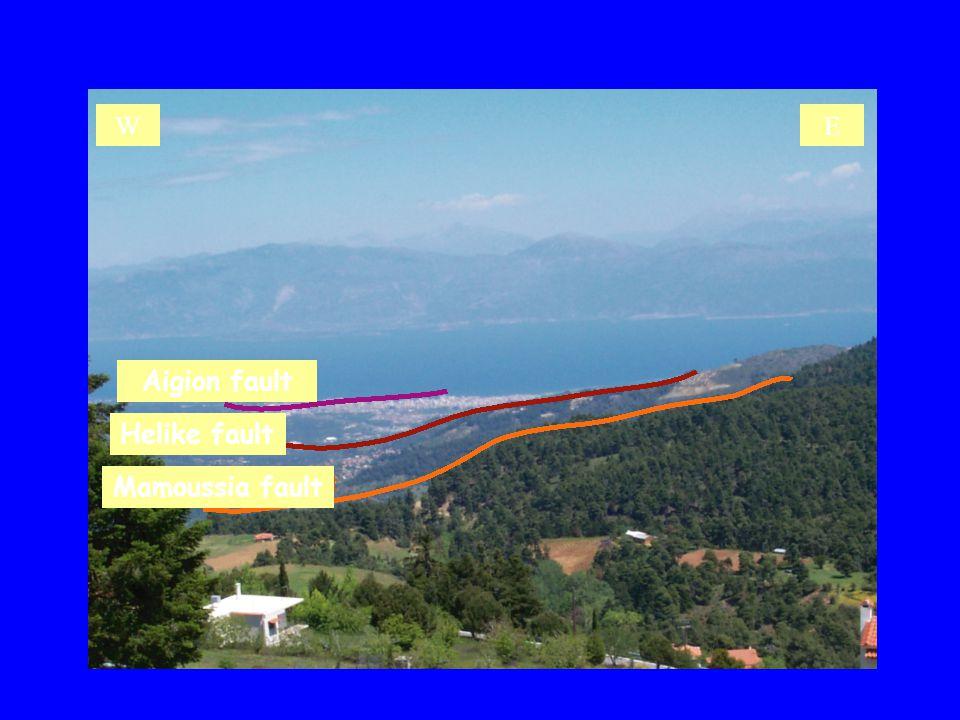 Aigion fault Helike fault Mamoussia fault WE
