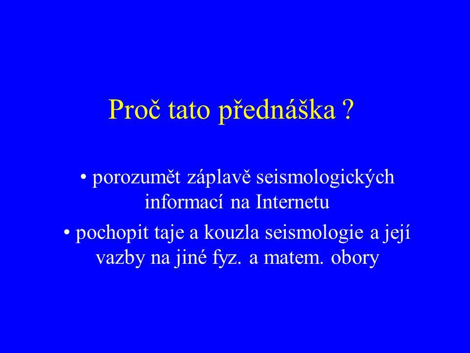 Závěr Nutnost prohloubení teor.modelů zlomů (reologie, šíření trhlin) Naděje pro predikci z.