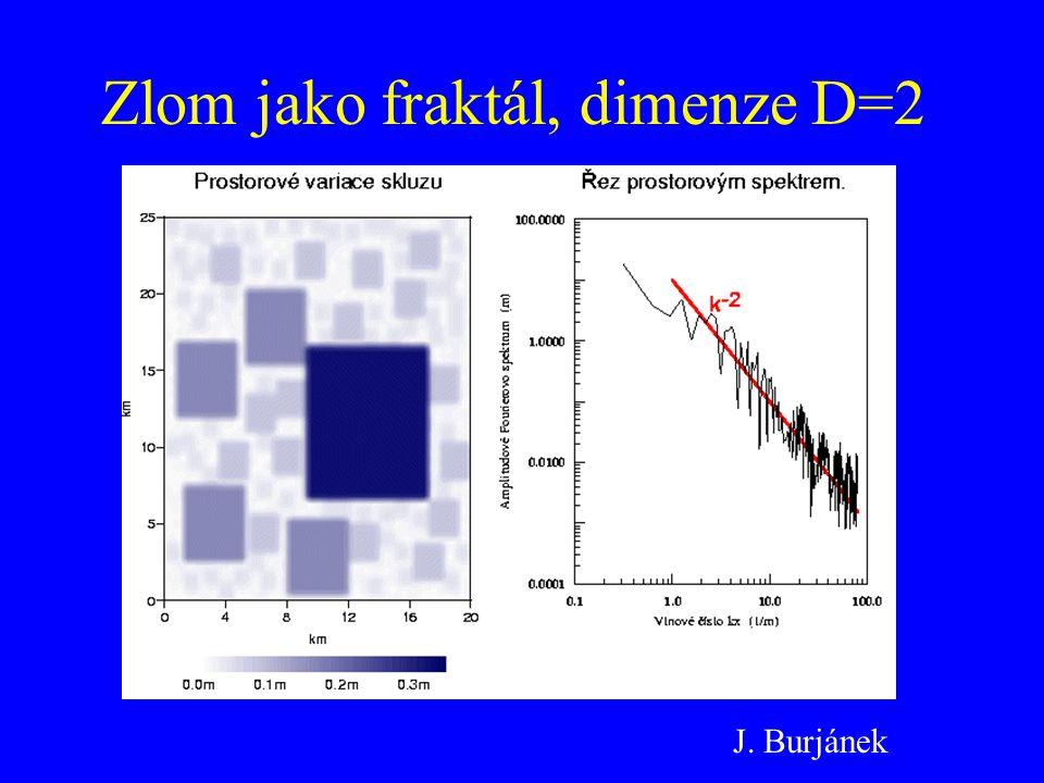 Zlom jako fraktál, dimenze D=2 J. Burjánek