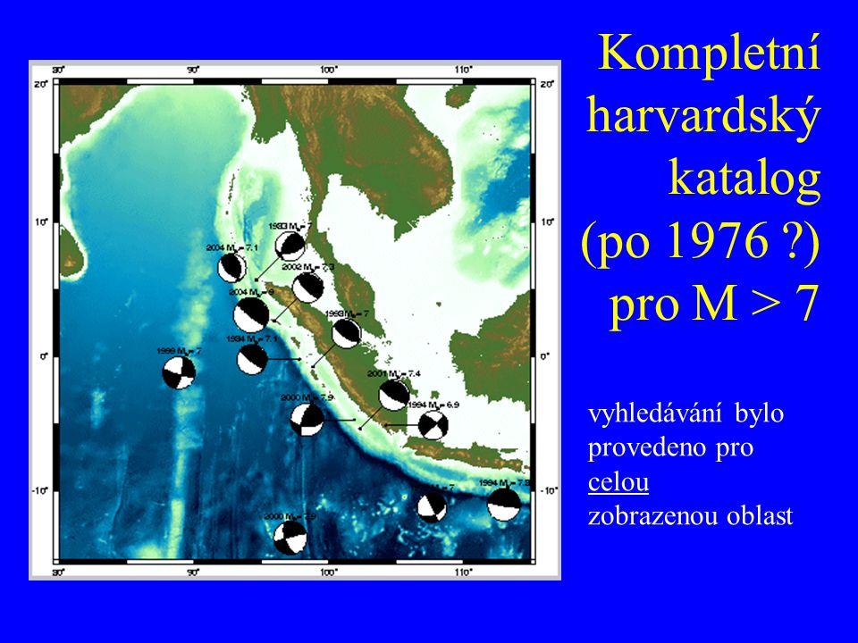 Kompletní harvardský katalog (po 1976 ?) pro M > 7 vyhledávání bylo provedeno pro celou zobrazenou oblast