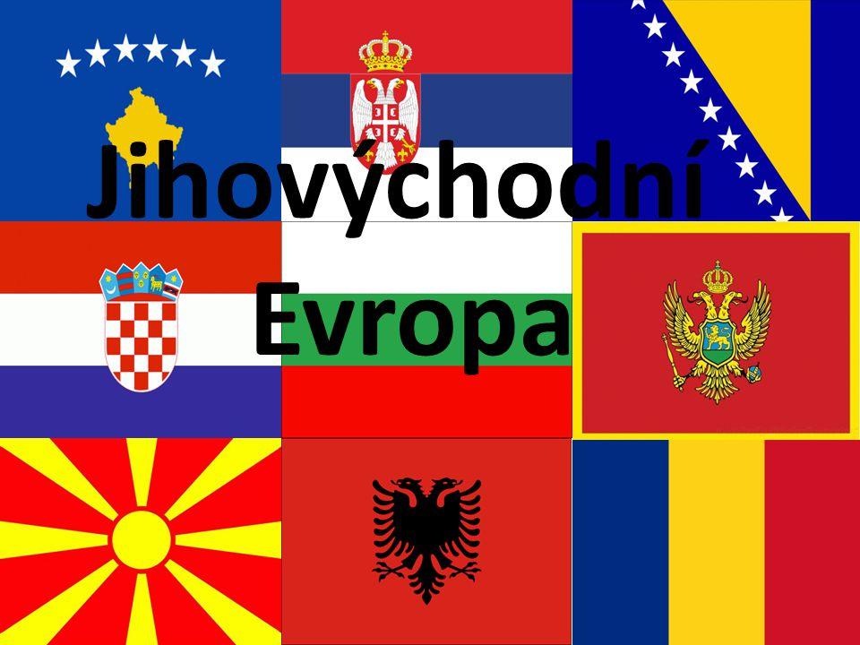 Obecné informace státy ležící na Balkáně (Chorvatsko, Srbsko, Makedonie, Rumunsko, Bulharsko, Bosna a Hercegovina, Černá Hora, Albánie a Kosovo) všechny státy přístup k moři (kromě Makedonie a Srbka) Převážně hornatá osu tvoří řeka Dunaj (úmoří Černého moře, pramení v Černém lese)-podél nížiny (největší Valašská nížina v Rumunsku) podnebí mírné, vnitrozemské, podél Jaderského moře podnebí středomořské obyv.
