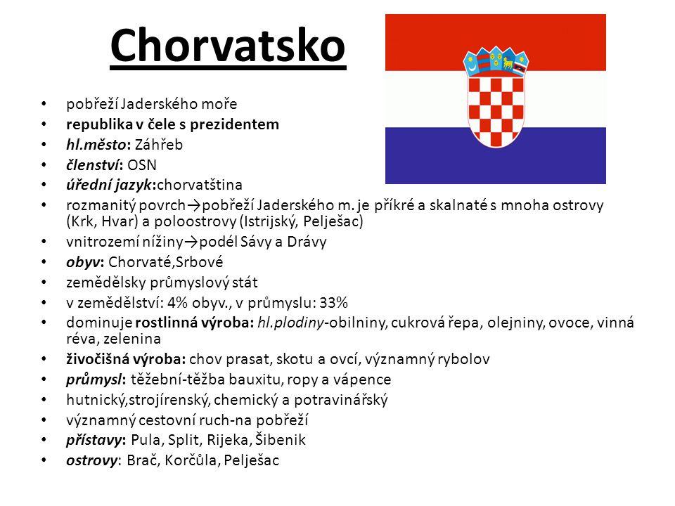 Srbsko v centru Balkánského pol.