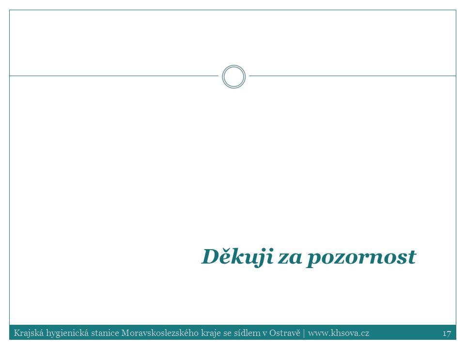 17Krajská hygienická stanice Moravskoslezského kraje se sídlem v Ostravě | www.khsova.cz Děkuji za pozornost
