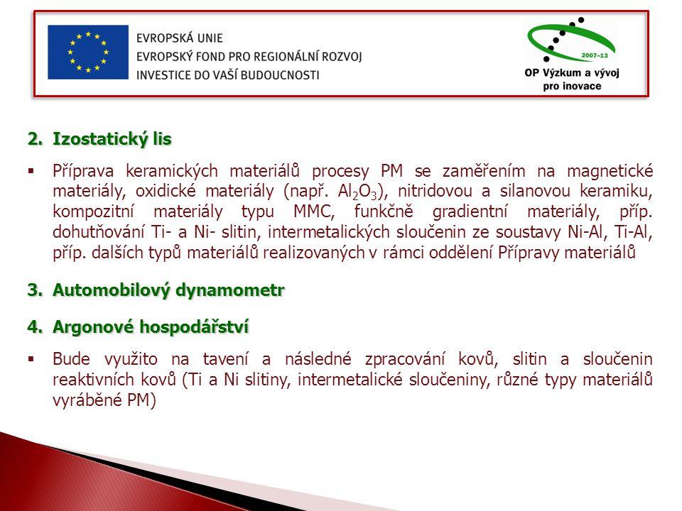 2.Izostatický lis  Příprava keramických materiálů procesy PM se zaměřením na magnetické materiály, oxidické materiály (např.