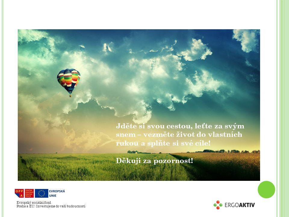 Evropský sociální fond Praha a EU: Investujeme do vaší budoucnosti Jděte si svou cestou, leťte za svým snem – vezměte život do vlastních rukou a splňte si své cíle.