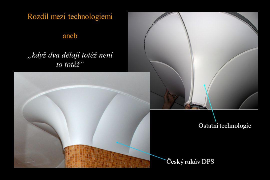 """Rozdíl mezi technologiemi aneb """"když dva dělají totéž není to totéž Český rukáv DPS Ostatní technologie"""