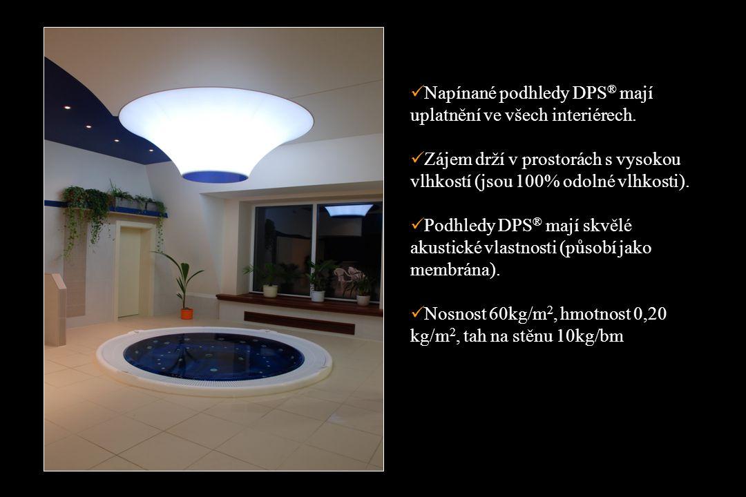 Napínané podhledy DPS ® mají uplatnění ve všech interiérech.