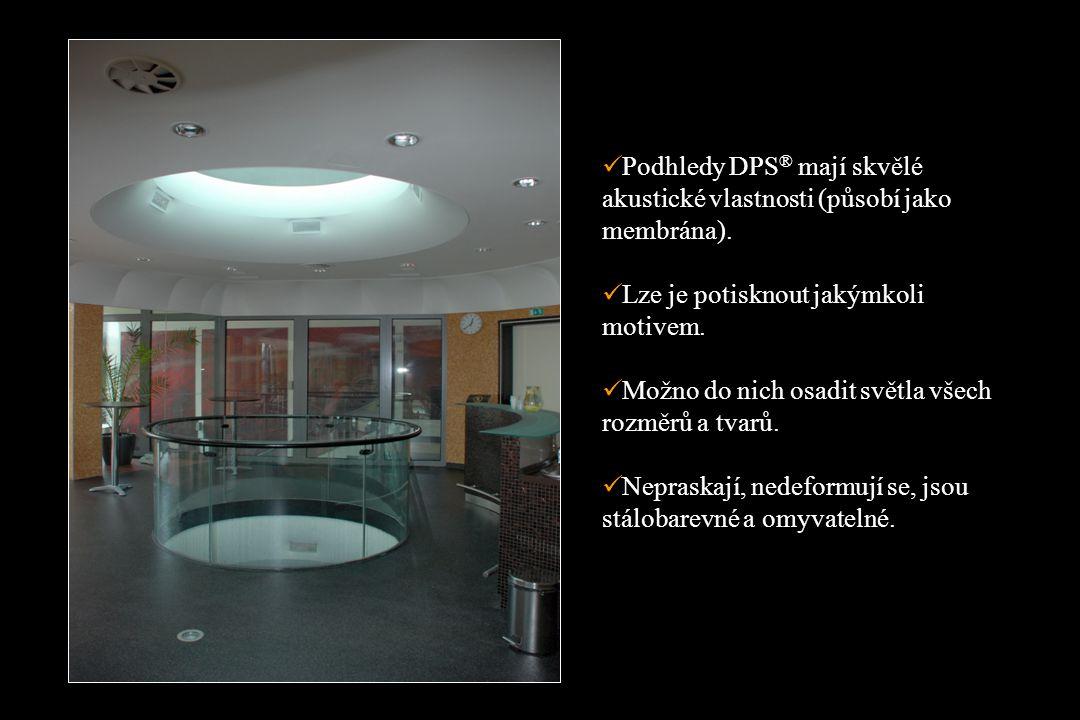 Podhledy DPS ® mají skvělé akustické vlastnosti (působí jako membrána).