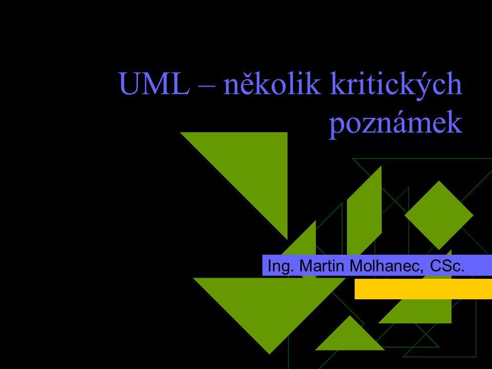 UML – několik kritických poznámek Ing. Martin Molhanec, CSc.