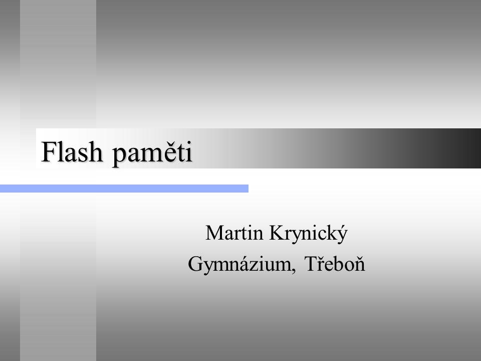 Flash paměti Martin Krynický Gymnázium, Třeboň