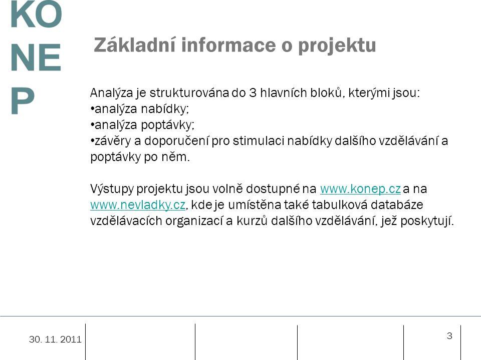 14 Analýza nabídky - management V oblasti managementu bylo nalezeno 305 kurzů, přičemž 159 kurzů, tj.