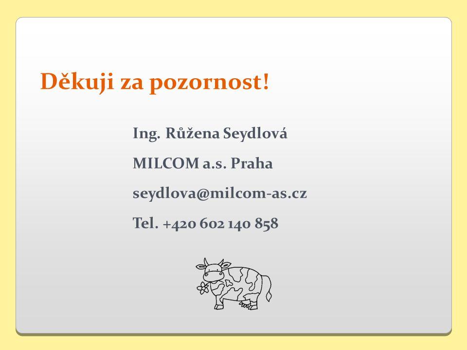 Děkuji za pozornost. Ing. Růžena Seydlová MILCOM a.s.