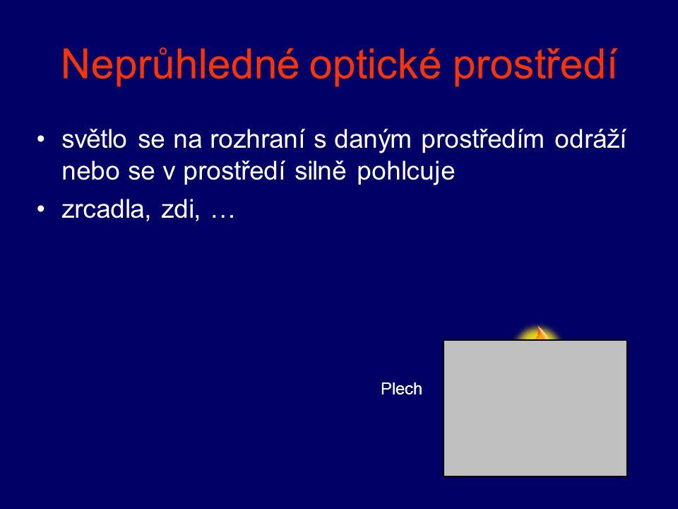 Homogenní optické prostředí (stejnorodé) v celém svém objemu má stejné optické vlastnosti např.